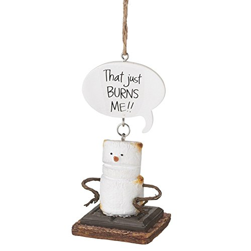 """Toasted S'mores """"That Just BURNS ME!!"""" Ornament"""