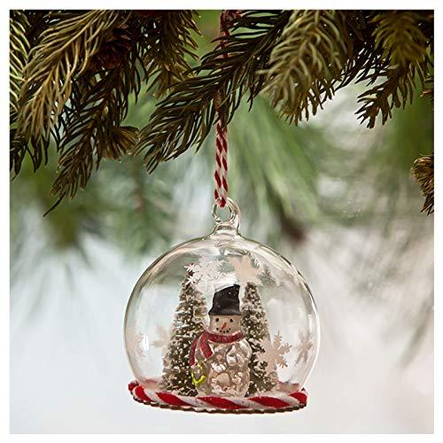 Bethany Lowe Snowman Mini Globe Glass Christmas Tree Retro Vintage Decor Ornament
