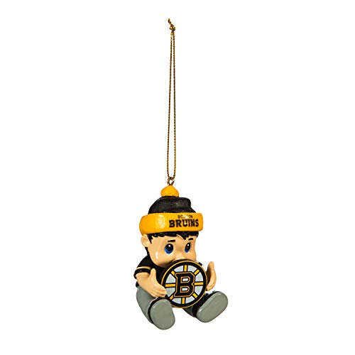Team Sports America NHL Boston Bruins Remarkable Adorable Lil Fan Christmas Ornament – 2″ Long x 2″ Wide x 3″ High