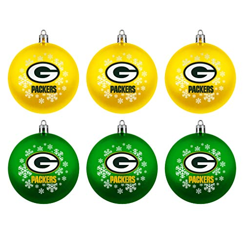 Boelter Brands Green Bay Packers Home & Away Shatter Proof Ball Ornament Gift Set of 6