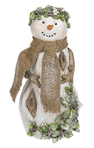 Ganz Small Woodland Snowman Figurine,Multi color