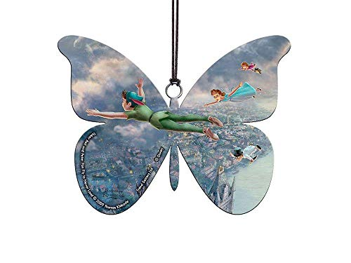 Disney – Peter Pan – Fly to Never Land – Butterfly Shaped – Hanging Acrylic Print – Perfect for Gifting and Collecting