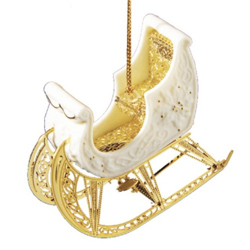 Baldwin Porcelain Sleigh Ornament