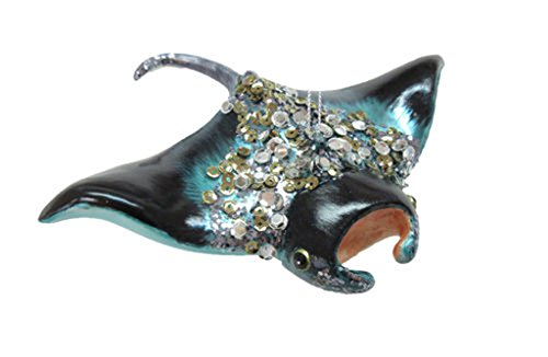 December Diamonds Glass Ornament – Manta Ray with Jewels