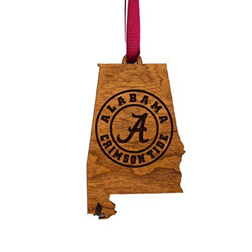LazerEdge Alabama Ornament – State Map with Alabama Crimson Tide