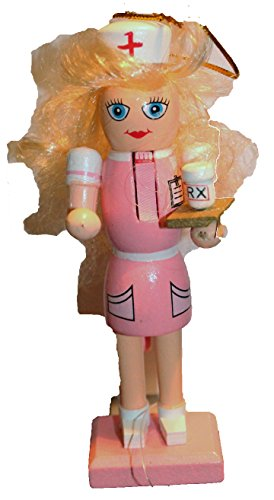 Santa's Workshop Wooden Pink Nurse Nutcracker Ornament – 5.5 with Gift Box