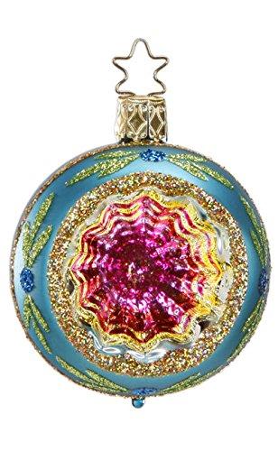 Inge-Glas Reflector Christmas Sparkles – Aqua 20686R006D German Glass Ornament