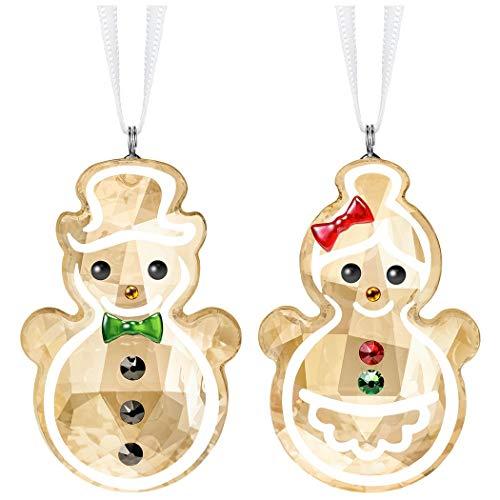 SWAROVSKI Gingerbread Snowman Couple Ornament, 4.6, Multicolor