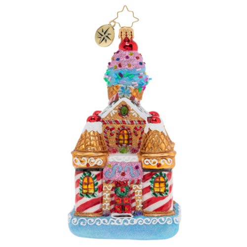 Christopher Radko Hand-Crafted European Glass Christmas Decorative Figural Ornament, Sweetest Castle Around