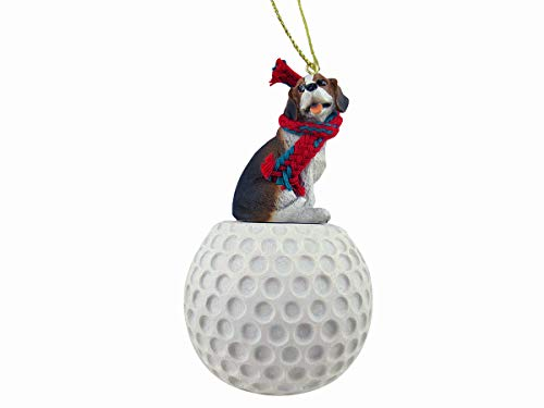 Conversation Concepts: Beagle Golf Sports Fan, Christmas Tree Ornament, Gift, Holiday Home Décor, Festive Figurine