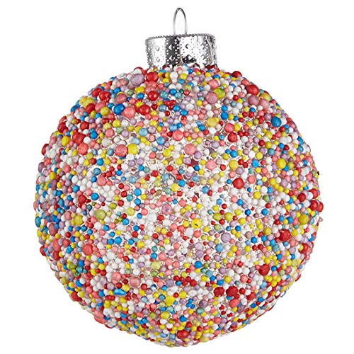 Raz Sprinkle Colorful 3 x 3 Acrylic Christmas Decorative Hanging Ball Ornament