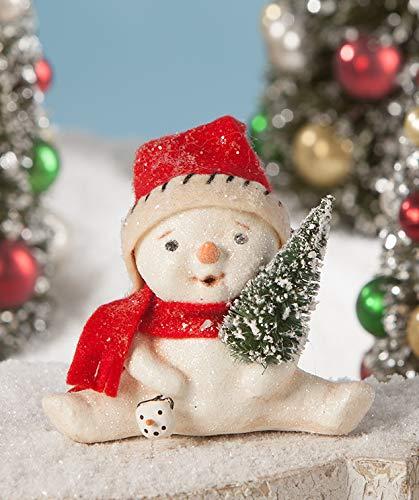 Bethany Lowe Lil Jolly Snowman Figurine – 3″ x 4″