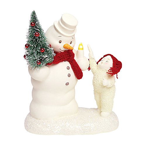 "Department 56 Snowbabies ""Lighting the Snowy Night"" Porcelain Figurine, 7″"