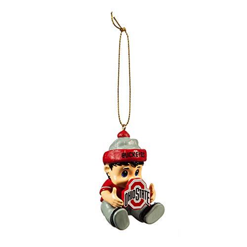 Team Sports America NCAA Ohio State University Remarkable Adorable Lil Fan Christmas Ornament – 2″ Long x 2″ Wide x 3″ High