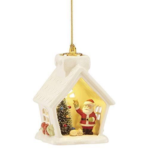 Lenox 886876 Light-Up Santa House Ornament