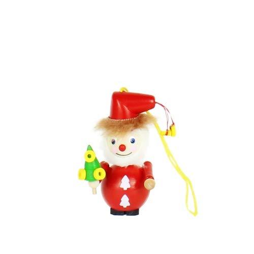 Ornament Golden Ring Santa