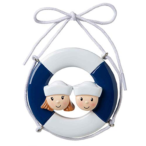 Polar X Cruise Ship Family of 2 Personalized Christmas Ornament