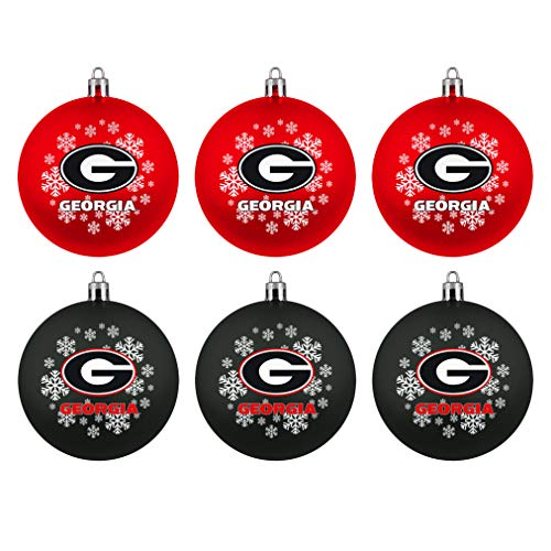 Topperscot Boelter Brands NCAA Georgia Bulldogs Home & Away Shatter Proof Ball Ornament Gift Set of 6