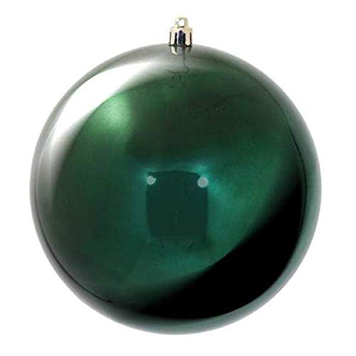 Vickerman 481097-2.4″ Midnight Green Shiny Ball Christmas Tree Ornament (24 pack) (N590674DSV)