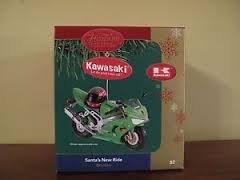 Kawasaki Santa's New Ride Carlton Heirloom Ornament