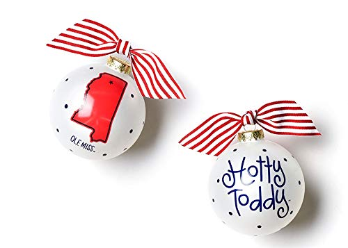 Coton Colors Ole Miss Glass Ornament – State