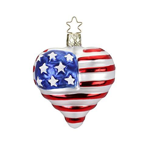 Inge-Glas Patriotic Heart, Forever United, Red White Blue
