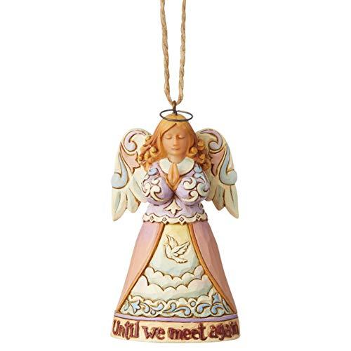 Enesco Jim Shore 6004318, Mini Bereavement Angel Hanging Ornament,Resin, 4.1 Inches,Multicolor