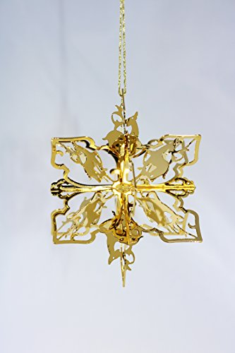 Douglas John Inc New 24K Gold Deer Snowflake Christmas Ornament