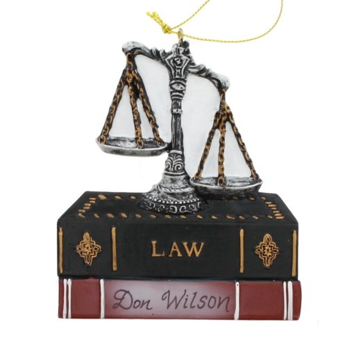 Kurt Adler Scales Of Justice With Law Books Ornament