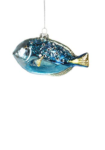 Midwest Glass Sequined Blue Fish Ornament