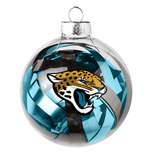 Topperscot NFL Jacksonville Jaguars Holiday Tinsel Ball Ornament