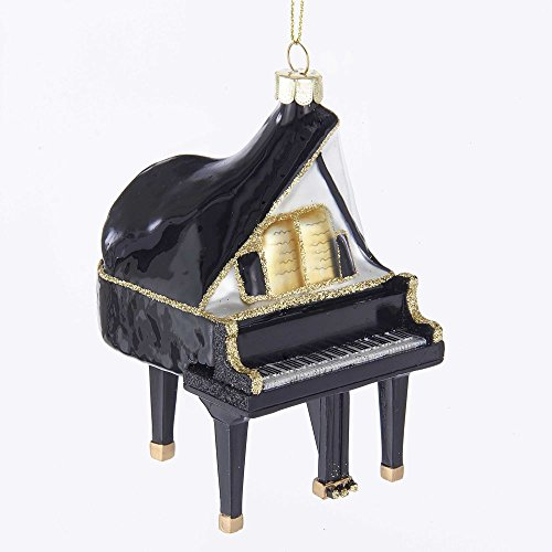 Kurt-Adler Glass Ornament with S-Hook and Gift Box, Hobby Collection (Grand Piano, NB1376)