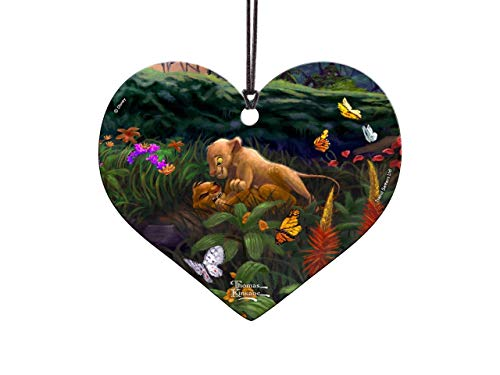 Trend Setters Disney – Lion King – Return to Pride Rock – Young Simba and Nala – Heart-Shaped Hanging Acrylic Print – for Gifting and Collecting