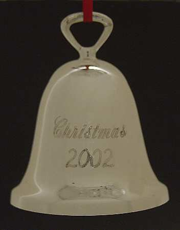 Reed & Barton 2002 Silver Plated Christmas Bell