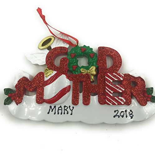 Personalized Godmother Christmas Ornament 2019
