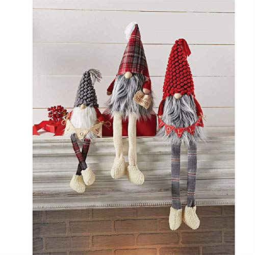 Mud Pie Large Dangle Leg Gnomes (Medium)