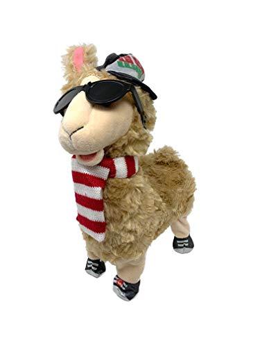 Winter Wonder Lane Animated Plush Toys, Christmas Holiday Decorations Plush Animal Toys, Gift Ideas (Hip-Hop Llama)