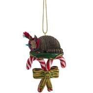 Armadillo Candy Cane Ornament