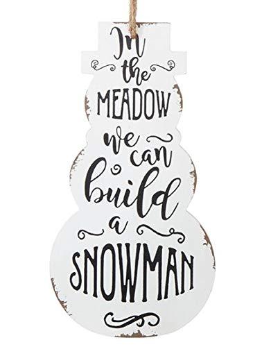 RAZ Imports 12″ Tall Snowman Sign Christmas Ornament