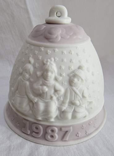 Lladro Campanita Navidad 1987 Matte Bell Christmas Porcelain Ornament 3″