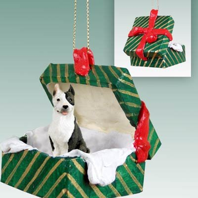 Conversation Concepts Pit Bull Terrier Brindle Gift Box Green Ornament