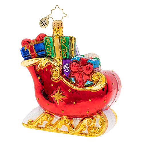 Christopher Radko Hand-Crafted European Glass Christmas Ornaments, Sleigh Full of Delights!