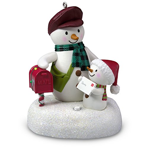Hallmark Keepsake Christmas Ornament 2018 Year Dated, Special Delivery Snowmen With Music