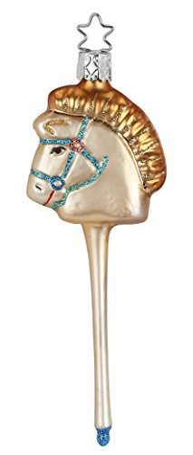 Inge-Glas Toy Hobby Horse 1-235-15 German Blown Glass Christmas Ornament