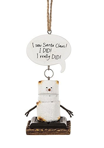"""Midwest-CBK Toasted S'mores """"I Saw Santa Claus! I Did! I Really Did!"""" Ornament"""
