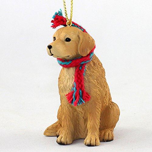 Conversation Concepts Golden Retriever with Removable Scarf Figurine Ornament 3″