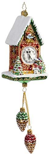 Christopher Radko Pinecone Time Zone Cuckoo Clock Christmas Ornament