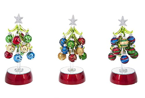 Ganz Glass Light Up Christmas Tree with Red Base Home Improvement