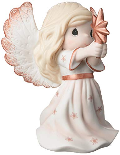 Precious Moments Rejoice in The Wonders of His Love 9th Annual Angel Bisque Porcelain 191023 Figurine, One Size, Multi