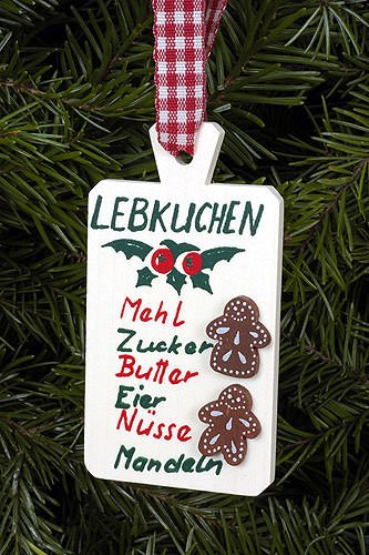 Christian Ulbricht Tree Ornament – Dough Tray Red – 4,5×8,5 cm / 1.8×3.3 inch